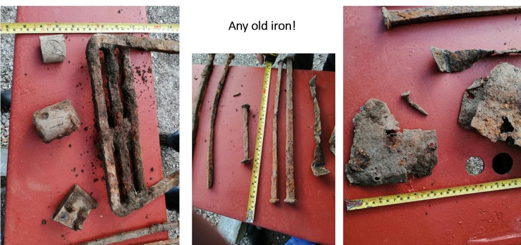 metal fixings from the barges