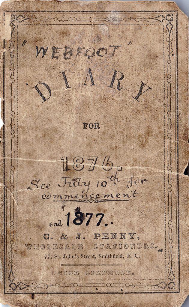 Webfoot diary 1876-77
